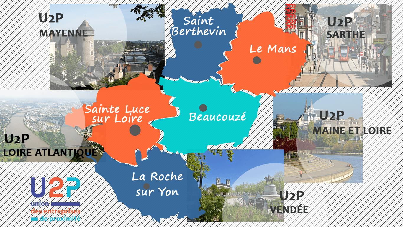 les cinq U2P départementales des Pays de la Loire